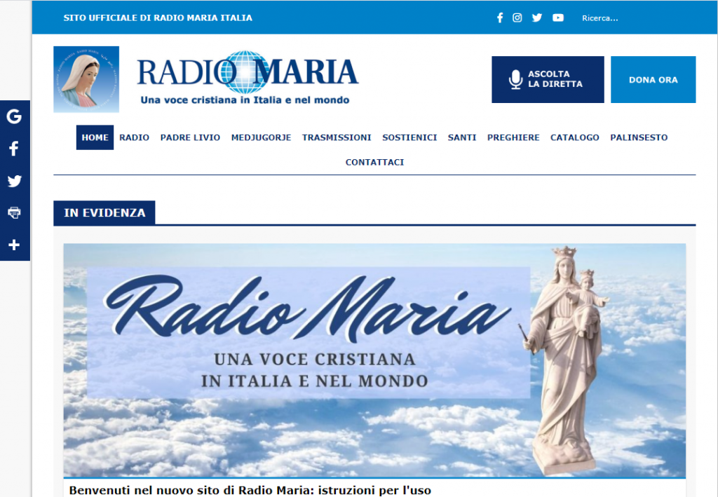 Italian website of Radio Maria