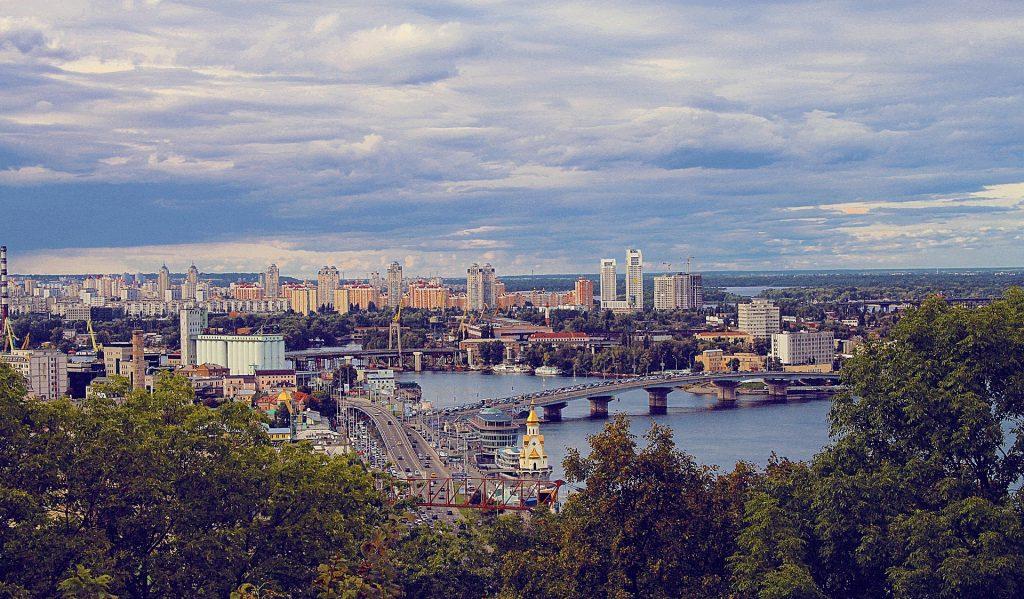 city view on Kiev, Ukraine, capital of Ukraine