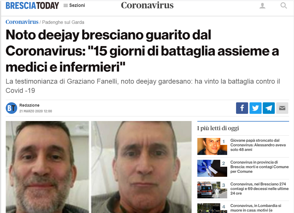Website Brescia Today, Italy