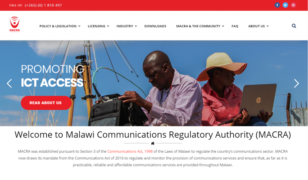 Malawi Communications Regulatory Authority (MACRA)