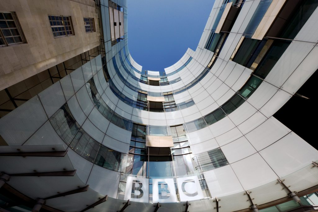 Headquarters of BBC in London, United Kingdom