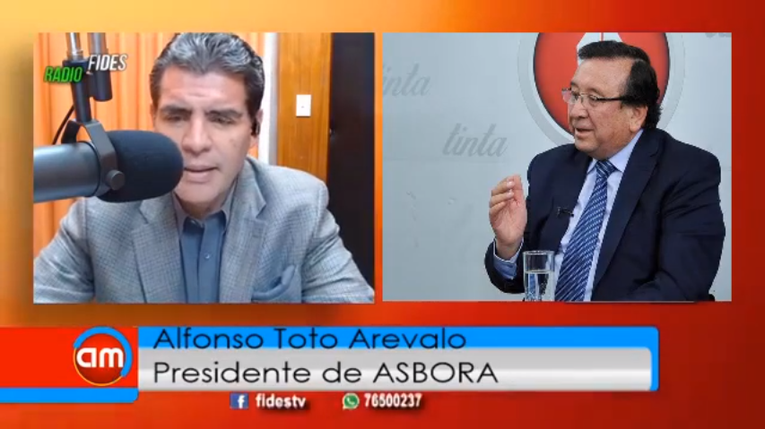 John Arandia interviewing Alfonso Toto Arevalo, President of Asbora