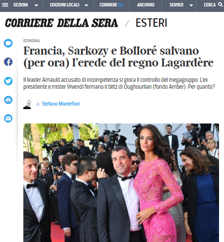 corriere della sera, article about group anfault