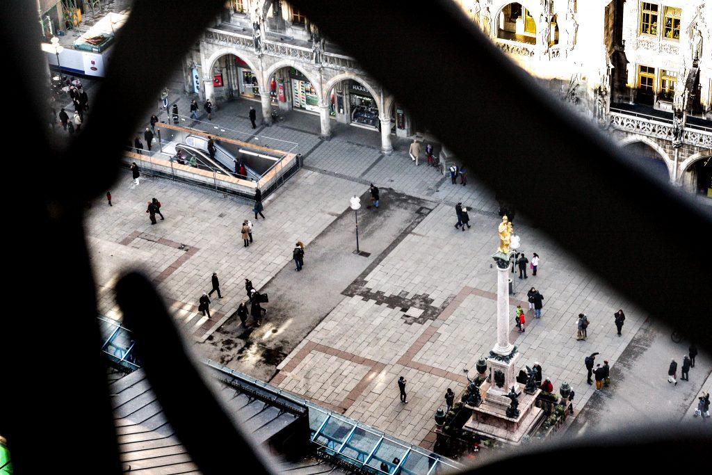 Munich, Germany Marienplatz, Rathaus - München, Deutschland, Foto vom Alten Peter, Photo