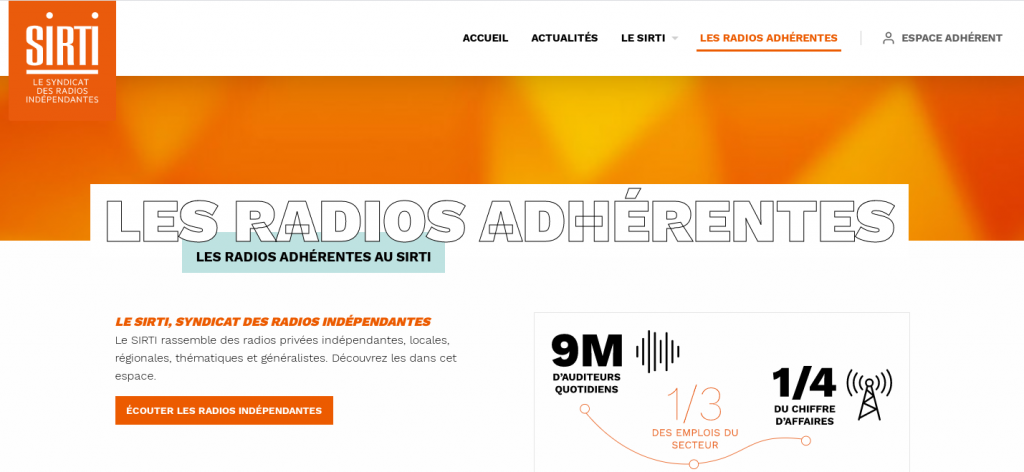 The radio stations in SIRTI have 9 million listeners on an average day, employ 33% of people working in the sector and have 25% of total radio advertising