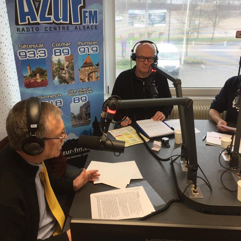 Les studios de Azur FM, la première radio associative alzacienne émettant sur cinq fréquences