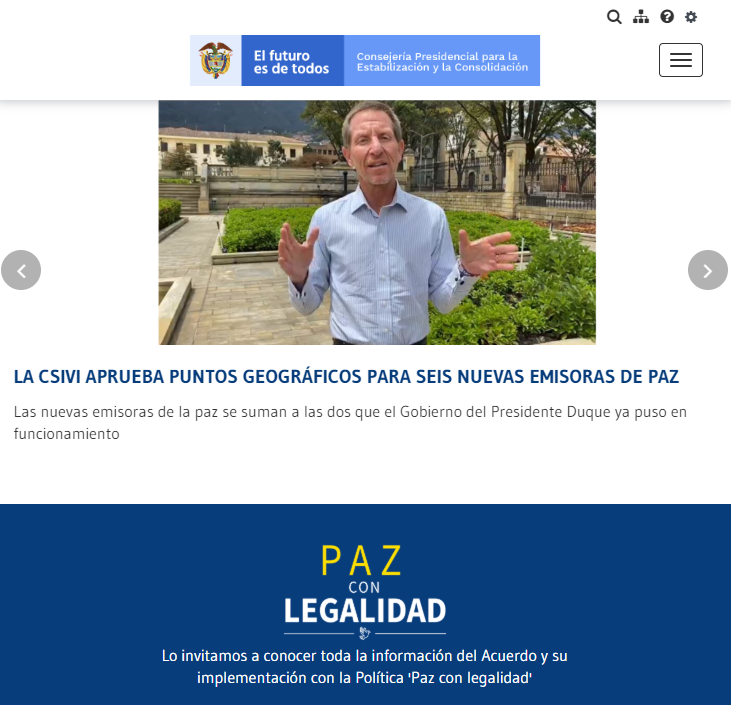 Each radio station 'is a Radio Nazionale della Colombia station, managed according to state guidelines' declared Emilio Archila, a Presidential Counsellor for Stabilization and Consolidation for the peace process