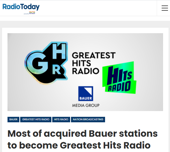 Bauer Media Audio reaches over twenty-six million daily listeners in Europe through radio, online services and podcasts. In seven countries - UK, Sweden, Norway, Denmark, Finland, Poland and Slovakia - it owns leading brands including KISS, Mix Megapol, Absolute Radio, Radio Norge, Radio Expres, Radio Nova, Radio 100 and RMF