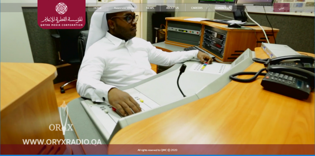 A broadcast technician at Orix FM, the QMC (Qatar Media Corporation) French channel transmitting on 94.0 MHz FM in Doha