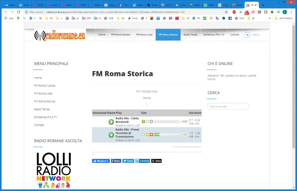 Per rivivere gli anni ruggenti dell'etere romano si può consultare il sito http://www.radioromane.eu/ creato da Claudio Patrizi, che raccoglie anche registrazioni di programmi, annunci, jingle e pubblicità di queste ed altre storiche emittenti della capitale