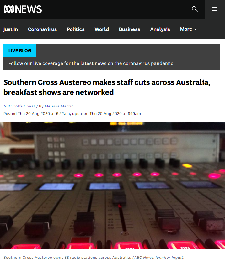 Southern Cross Austereo owns 88 radio stations on the Australian continent