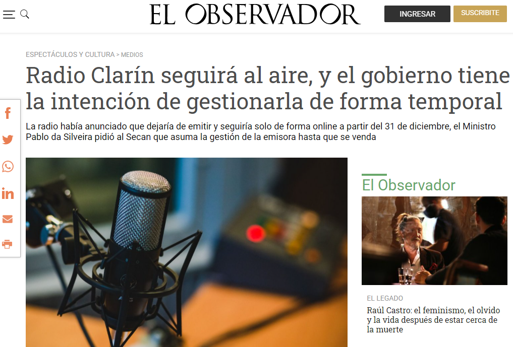 Radio Clarin will not close down