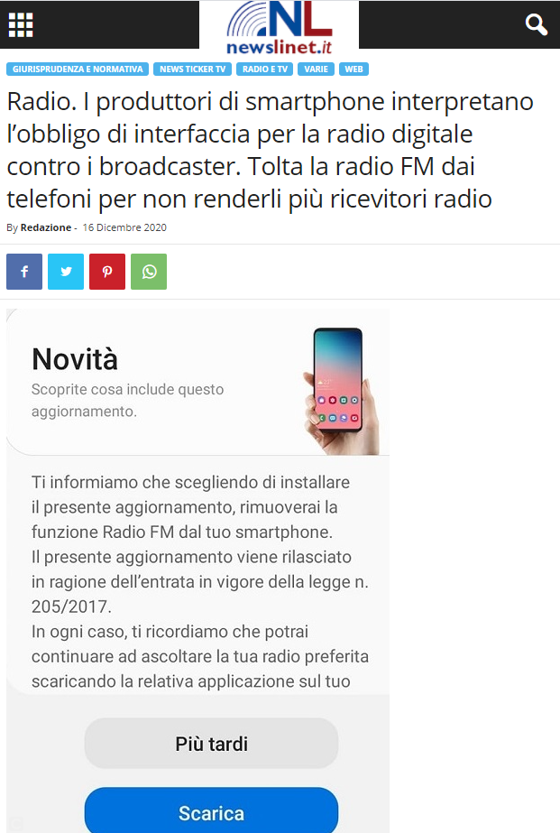 to promote dab, remove FM radio from mobile phone