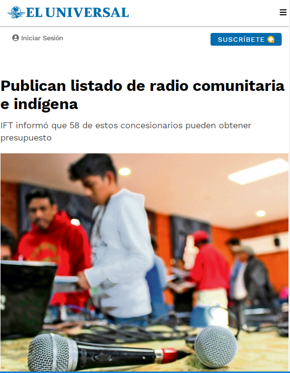 Institutional advertising and aid to community radios