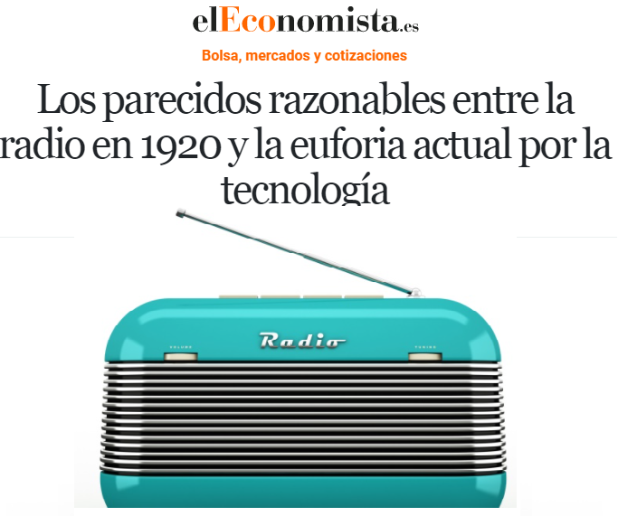 In the Twenties radio was one of the sectors of the new economy