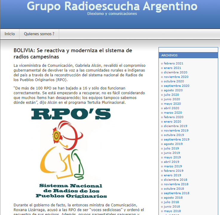 After decimation, rural radios will be reactivated in Bolivia