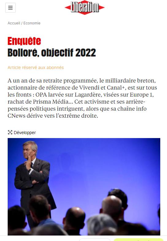 Lagardère towards the ''break-up''?