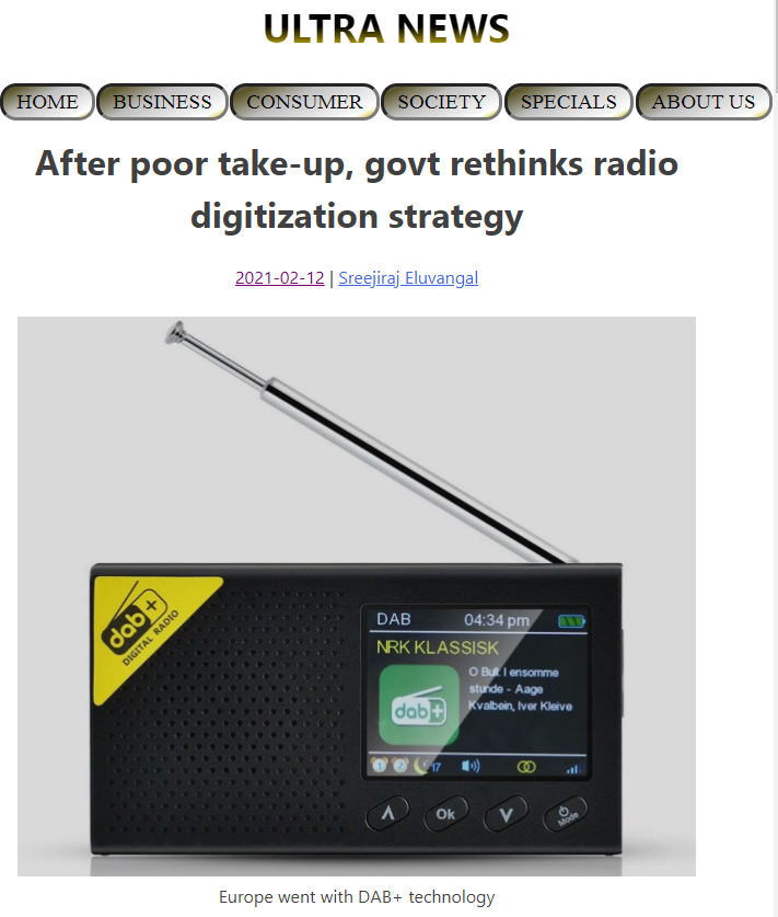 In India no one listens to digital radio DRM