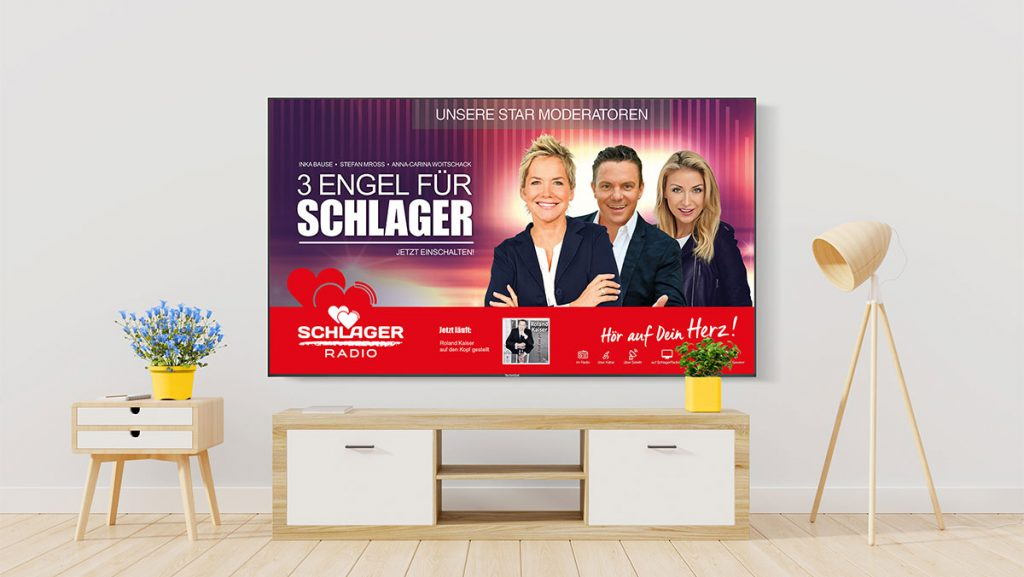 Schlager Radio can be received on FM, on the digital band on DAB+, via cable, via satellite