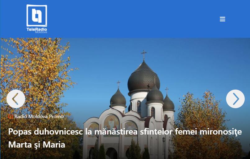 TeleRadio Moldova is the state broadcaster operating public radio and television