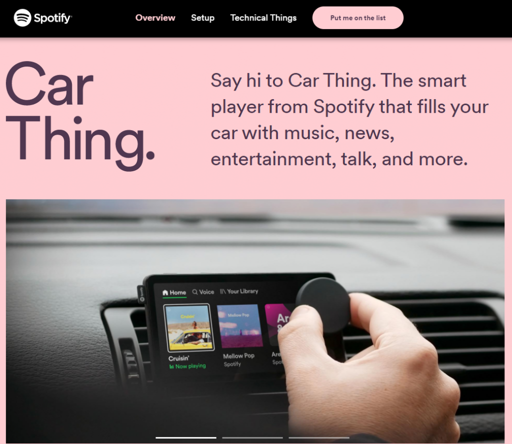 Spotify revolutionises music in the car