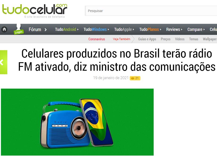 FM tuner mandatory on mobile phones in Brazil