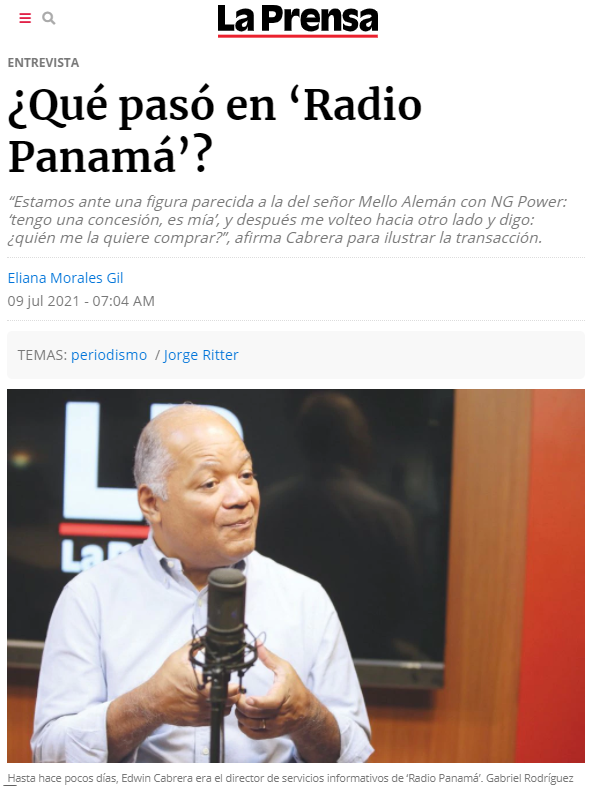 Sold the radio station and fired the journalists